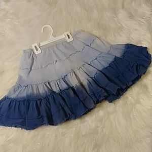 FUNKY BLUE TIE DYED LAYERED FESTIVAL MINISKIRT XS